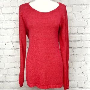 2/$15 Rachel Zoe women's knit sweater coral XL